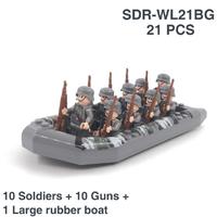 レゴ互換 レゴ特殊部隊 ミニフィグ 10 ピース 銃 ボート 戦争 軍隊 兵士 兵隊 ミリタリー LEGO風 ブロック セット 知育にもおすすめ★