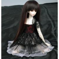 球体関節人形 BJD ドレス レース 黒 服 カスタムドール 衣装 人形用 ブラック 1/3 1/4 1/6 選べる3サイズ