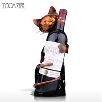 Tooarts ワインラック 猫 アイアン ワインスタンド メタル 芸術的 かわいい 動物 ねこ 置物 オブジェ 手作り 金属製 プレゼントにも 33cm