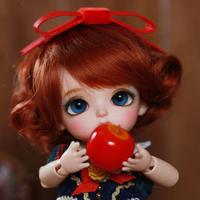 球体関節人形 幼女 可愛い 1/8 本体+眼球+メイクアップ済み 女の子 BJD カスタムドール 小さい かわいい 子供 選べる5色