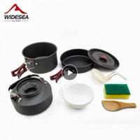 【WIDESEA】クッカーセット 10点 コスパ抜群 鍋+フライパン+ケトル+道具一式 キャンプ調理器具【アウトドア】