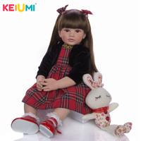 リボーンドール ベビードール 女の子 人形 リアル 本物そっくり トドラー人形 服+ぬいぐるみ付き 柔らかい 60cm