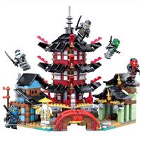 レゴ互換 ニンジャゴー ブロックセット 寺院 お寺 ミニフィグ LEGO風 737ピース
