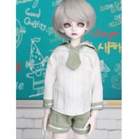球体関節人形 BJD 服 制服風 パンツ+トップス+ネクタイ カスタムドール 衣装 人形用 爽やか 1/3 1/4 1/6 選べる3サイズ