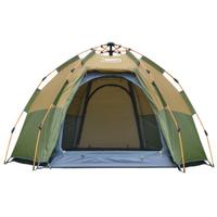【Desert&Fox】ポップアップテント ワンタッチ 3~4人用 2層式 自動 キャンプ【ブラウン】