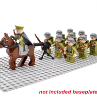 レゴ 中国軍 ミニフィグ10体+馬+機関銃+ライフル+バックパック レゴ互換品 特殊部隊 第二次世界大戦 WW2 兵士 兵隊 軍隊 LEGO風