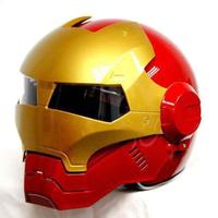 【アイアンマンそっくり】 バイク ヘルメット フルフェイス 海外 高品質 S~XXLサイズ レッド【コスプレにも】