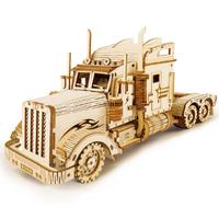 【ROBOTIME】 トレーラーヘッド MC502 大型トラック 3D立体パズル 木製 プラモデル 組み立てキット 簡単 自作 DIY 【人気】