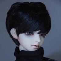 BJD ウィッグ ショート 人形用 球体関節人形 カスタムドール SD DD MSD YOSD ブラック 栗色 ミルクゴールデンピンク他 選べる2サイズと4色