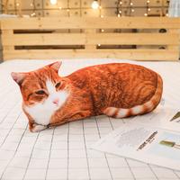BABIQU 猫 抱き枕 クッション 50cm 横になってる ぬいぐるみ ソフト グッズ 柔らかい 動物 かわいい プレゼントにも 選べる2種類★