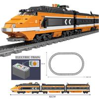 レゴ互換 電車 トレイン レールセット 電池式 動く電車が楽しい シティ LEGO風 ブロックセット 知育玩具 82cm