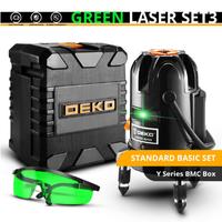 DEKO レーザー墨出し器 セット 緑 コスパ抜群 5ライン 6ポイント 360度 水平 垂直 グリーン 人気 おすすめ 高性能 BMCボックス付き★
