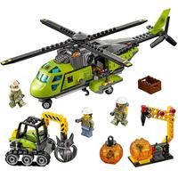 レゴ互換 LEGO シティ 火山調査隊のヘリコプター 60123 ミニフィグ付き レゴ風 ブロックセット