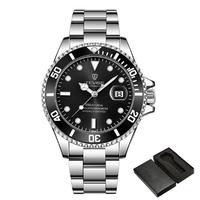 【TEVISE】 腕時計 メンズ 自動巻き 機械式 防水 ステンレスバンド 日付表示 発光 ルミナスハンズ 海外トップブランド 選べる3色