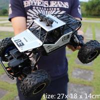 ラジコンカー 4WD モンスタートラック 27cm 1/16 2.4Ghz 防水 ラジコン カー バギー 外 オフロード ラジオコントロール レース 選べる4色