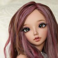 BJD カスタムドール 1/4 本体+眼球+メイクアップ 球体関節人形 女の子 41cm 選べる4色