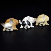 フレンチブルドッグ フィギュア グッズ かわいいミニサイズ★ 赤ちゃん 人形 おもちゃ インテリア 雑貨 犬 茶色 白黒 白 グレー 選べる6種類★