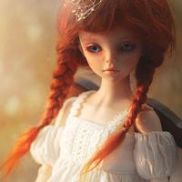 BJD ウィッグ 三つ編み かわいい 選べる3サイズ 球体関節人形 カスタムドール 人形用 かつら 髪 アクセサリー SD DD MSD YOSD
