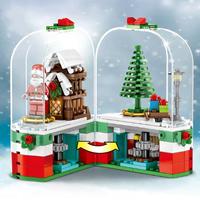 レゴ互換 クリスマス アドベントカレンダー サンタクロース ツリー 木 雪 ブロックセット LEGO風 開閉可能 知育玩具
