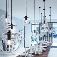 【ペンダントライト】 北欧 ダイニング ボール 透明 ガラス製 【カウンターにも】