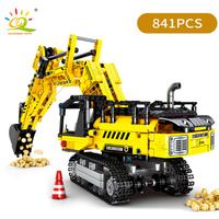 レゴ互換 ショベルカー テクニック 工事現場 パワーショベル LEGO風 ブロックセット 乗り物 知育玩具 黄 黒