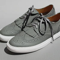 wing tip mat leather GREY