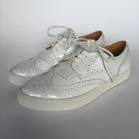 wing tip WHITE enamel men