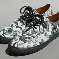 wing tip flower print BLACK