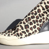 knitted half boots LEOPARD