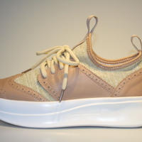 knitted wing tip BEIGE