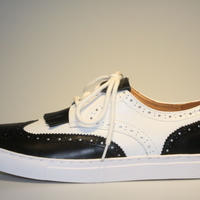 wing tip combi BLACK/WHITE