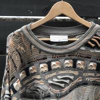 CARLO ALBERTO/カルロアルベルト 3Dミックス柄セーター 90年代 Made In AUSTRALIA  (USED)