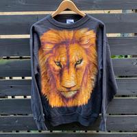 LION/ライオン 顔プリント スウェット 90年代 (USED)