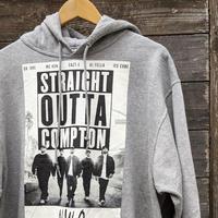 NWA STRAIGHT OUTTA COMPTON/ストレイトアウタコンプトンプリント フードスウェット (NEW)