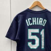 MAJESTIC MLB MARINERS/マジェスティック シアトルマリナーズ イチロー51 Tシャツ 2000年代 (USED)