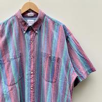 CHAPS RALPH LAUREN/チャップスラルフローレン ボタンダウン半袖ストライプシャツ 90年代 (USED)