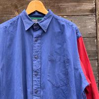 PoloRalphLauren/ポロラルフローレン  カラーブロック切り替えシャツ 90年前後 (USED)