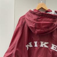 NIKE/ナイキ ビッグロゴナイロンフードスタジャン 90年代 (USED)