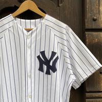 MAJISTIC NY YANKEES/マジェスティック ニューヨークヤンキース ベースボールシャツ 62CHAMBERLAIN 2000年代 (USED)
