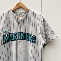 MAJESTIC MLB MARINERS/マジェスティック シアトルマリナーズ  ベースボールシャツ 90年代 Made In USA (USED)