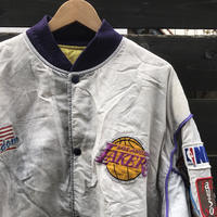 STARTER NBA LAKERS/スターター ロサンゼルスレイカーズ スタジャン 90年前後 Made In USA (USED)