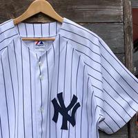 MAJESTIC NY YANKEES/マジェスティック ニューヨークヤンキース ベースボールシャツ 2000年前後 (USED)