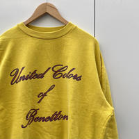 UNITED COLORS OF BENETTON/ユナイテッドカラーズオブベネトン ロゴ スウェット 90年代 Made In ITALY (USED)