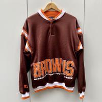 STARTER NFL BROWNS/スターター クリーブランドブラウンズ ヘンリーネックスウェット 80年代 (USED)