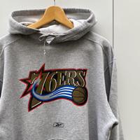 REEBOK NBA 76ers/リーボック フィラデルフィアセブンティシクサーズ フードスウェット 00年代 (USED)