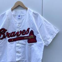 RUSSELL ATHLETIC MLB BRAVES/ラッセル アトランタブレーブス ベースボールシャツ 90年代 Made In USA (USED)