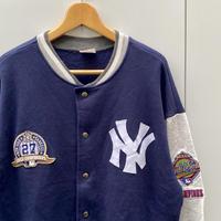 MAJESTIC NEW YORK YANKEES/マジェスティック MLB ヤンキース スウェットスタジャン 96年 Made In USA (USED)