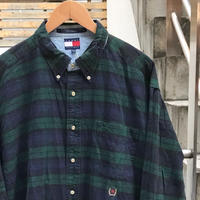TOMMY HILFIGER/トミーヒルフィガー ボタンダウンチェックシャツ 90年代 (USED)