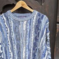 ROUNDTREE & YORKE 3Dミックスストライプ柄セーター 90年代 (USED)