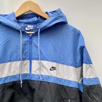 NIKE/ナイキ ナイロンプルオーバーフードジャケット 80年代 紺タグ (USED)